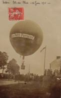 Carte Photo Ballon Le Petit Parisien à Redon Fête Des Fleurs Du 12 Juin 1910 - Redon