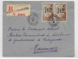 MADAGASCAR - 1943 - FRANCE LIBRE - LETTRE RECOMMANDEE  De AMBOHIMAHASOA RARE ET SUP ! - Madagascar (1889-1960)