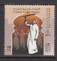 2013 United Arab Emirates Fazza Heritage Dance Diving Culture  Complete Set Of 2 MNH - Ver. Arab. Emirate