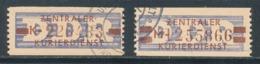 DDR Dienstmarken B 20/21 Ungültigkeitsentwertung Mi. 44,- - DDR