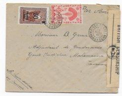 MADAGASCAR - 1944 - SERIE DE LONDRES + FRANCE LIBRE - LETTRE Avec CENSURE ANGLAISE De DIEGO-SUAREZ - Madagascar (1889-1960)