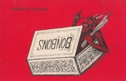 Krampus Devil - Krampus Inside A Bonbons Box Old Postcard 1925 - Saint-Nicholas Day