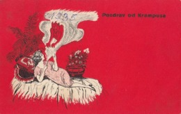 Krampus Devil - Pozdrav Od Krampusa Old Postcard 1935 - Saint-Nicholas Day