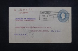 COSTA RICA - Entier Postal De San José Pour La France En 1910 - L 45646 - Costa Rica