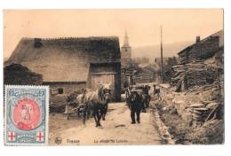 Vresse Le Village De Laforêt Attelage Cheval Timbre Croix Rouge - Vresse-sur-Semois