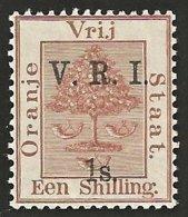 Orange Free State 1900. 1s Brown V.R.I. LEVEL STOPS. SACC 57**, SG 110**. - África Del Sur (...-1961)