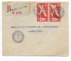 MADAGASCAR - 1944 - SERIE DE LONDRES - LETTRE RECOMMANDEE De MAROANTSETRA RARE ! - Madagascar (1889-1960)