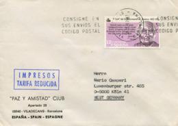 Spagna (1987) - Busta Per La Germania - 1931-Hoy: 2ª República - ... Juan Carlos I