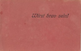 Krampus Devil - Wirst Brav Sein ! Old Postcard 1942 - Nikolaus