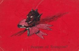 Krampus Devil - Pozdrav Od Krampusa Old Postcard - Nikolaus