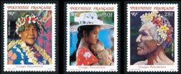 POLYNESIE 1987 - Yv. 272 273 Et 274 **   Faciale= 0,80 EUR - Visages Polynésiens (3 Val.)  ..Réf.POL24525 - Französisch-Polynesien