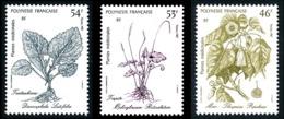 POLYNESIE 1987 - Yv. 285 286 Et 287 **   Faciale= 1,29 EUR - Plantes Médicinales (3 Val.)  ..Réf.POL24531 - Französisch-Polynesien