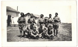SAVOIE MILITARIA 1937 COL DE LA MADELEINE GROUPE DE MILITAIRES VERITABLE ORIGINAL PHOTO NON DENTELEE LUGDA LUMIERE - War, Military