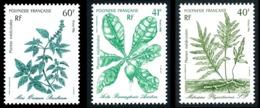 POLYNESIE 1986 - Yv. 268 269 Et 270 **   Faciale= 1,18 EUR - Plantes Médicinales (3 Val.)  ..Réf.POL24523 - Nuevos