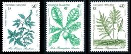 POLYNESIE 1986 - Yv. 268 269 Et 270 **   Faciale= 1,18 EUR - Plantes Médicinales (3 Val.)  ..Réf.POL24523 - Französisch-Polynesien