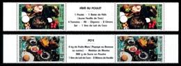 POLYNESIE 1987 - Yv. 278A Et 279A = 278 Et 279 En Tryptiques **   Cote= 8,60 EUR - Plats Polynésiens  ..Réf.POL24528 - French Polynesia