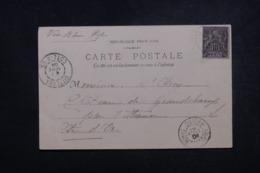 BÉNIN - Affranchissement Plaisant Type Groupe De Cotonou Sur Carte Postale Pour La France En 1904 Via Ouidah - L 45652 - Covers & Documents