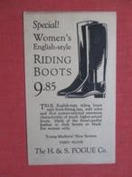 Women's English Style Riding Boots  H & S Pogue Co.ref 3691 - Publicité