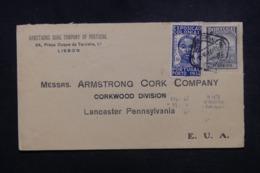PORTUGAL - Enveloppe Commerciale De Lisbonne Pour Les U.S.A. En 1934, Affranchissement Plaisant ( Madeire) - 45654 - 1910-... République