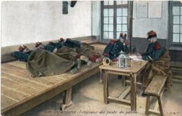 Infanterie - Intérieur Du Poste De Police   (117592) - Regimenten