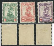 Nr 126/128 Charnière - 1914-1915 Croix-Rouge