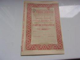 TIROU DIRICQ Manufacture De Tabacs (fondateur) CHARLEROI (1923) - Actions & Titres