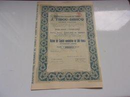 TIROU DIRICQ Manufacture De Tabacs (500 Francs) CHARLEROI (1923) - Actions & Titres