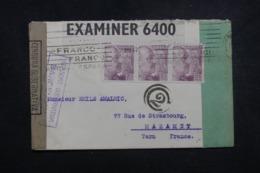 ESPAGNE - Enveloppe De Barcelone Pour La France En 1942 Avec Contrôles Postaux - L 45656 - Marques De Censures Nationalistes
