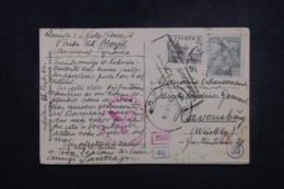 ESPAGNE - Carte Postale De Barcelone Pour L' Allemagne En 1942 Avec Contrôles Postaux - L 45657 - Marques De Censures Nationalistes