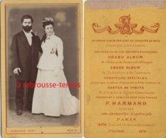 CDV Mariage En 1878-photo Harmand à Paris - Photographs