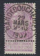 "Fine Barbe - N°67 Obl Simple Cercle ""Gand (boucherie)"". Superbe - 1893-1900 Schmaler Bart"