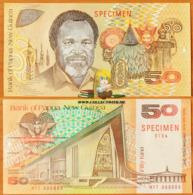 Papua New Guinea 50 Kina 1989 Specimen UNC P-11s - Papoea-Nieuw-Guinea