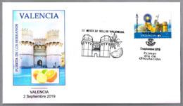 12 MESES - 12 SELLOS - VALENCIA - Puerta De Los Serranos. SPD/FDC Valencia 2019 - Otros