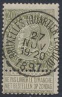 "Fine Barbe - N°59 Obl Simple Cercle ""Bruxelles (Quartier Leopold)"". TB - 1893-1900 Barbas Cortas"