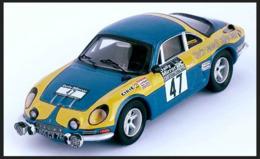 Alpine Renault A110 - Clarks Renault Rally Team - P. Moss/E. Crellin - RAC Rally 1973 #47 - Troféu - Trofeu