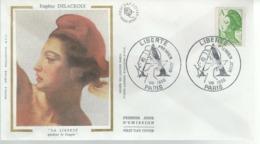 FDC - 1er Jour - I VIII 1986 - LIBERTÉ - Eugène DELACROIX - 1980-1989