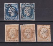 TIMBRE FRANCE/ NAPOLEON N° 13/14 OBLITERE - 1853-1860 Napoléon III