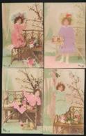 6 KAARTEN - MEISJE  -  CARTE PHOTO  FOTOKAART  2 SCANS - Enfants