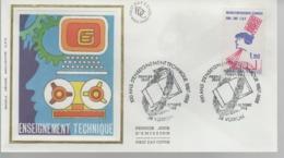 FDC - 1er Jour - 4 OCTOBRE 1986 - ENSEIGNEMENT TECHNIQUE- VOIRON - 1980-1989