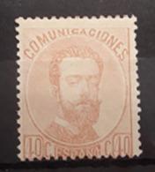 ESPAÑA.  EDIFIL 125 *.  40 CT AMADEO I.  CATÁLOGO 60 € - 1872-73 Reino: Amadeo I