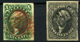 Estados Unidos Nº 7/8. Año 1851/56 - Usados