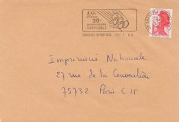 FRANCIA - J.O. D'HIVER - 20° ANNIVERSAIRE GRENOBLE 1988 - Inverno1968: Grenoble