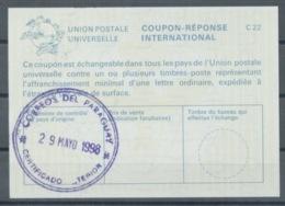 PARAGUAY La25 International Reply Coupon Reponse Antwortschein IAS IRC O CORREOS DEL PARAGUAY AEROPOSTAL 17.2.86 - Paraguay