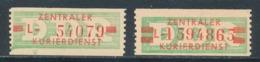 DDR Dienstmarken B 30/31 ** Mi. 27,- - DDR