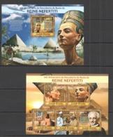 VV782 2013 GUINE GUINEA-BISSAU EGYPT 100TH ANNIVERSARY OF DISCOVERY NEFERTITI KB+BL MNH - Arte