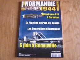 NORMANDIE 44 N° 18 Guerre 40 45 Débarquement Port En Bessin Aérodrome Carentan Bénouville Panzer Régiment 7 Th Armoured - Guerre 1939-45