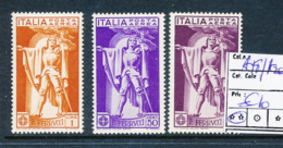ITALY ITALIA SASSONE AIR A18/20 MNH - 1900-44 Vittorio Emanuele III