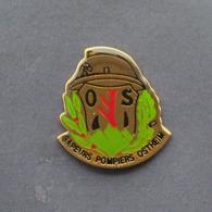 1 Pin's Sapeurs Pompiers D'OSTHEIM (HAUT RHIN - 68) - Bomberos