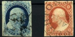 Estados Unidos Nº 3/4. Año 1851/56 - Usados