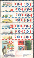 ITALIA - ITALIE - ITALY - 03/06/1970 - TOKIO - CINQUANTENARIO RAID ROMA - TOKIO 8 BUSTE - Aerei